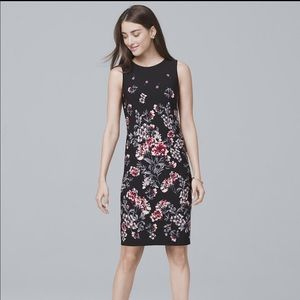 WHBM REVERSIBLE FLORAL-PRINT SHEATH Dress NWT XS